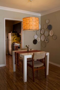 Parsons Square Dining Table from west elm via @Apartment Therapy