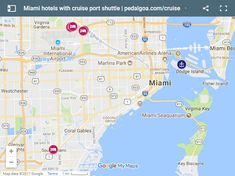 Miami Cruise Port Map And Local Activities Cruising