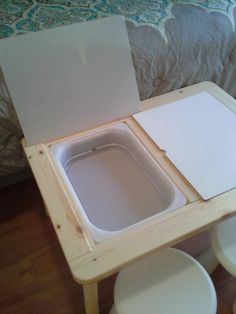 This is the excerpt for a placeholder post. It can be deleted, or edited to make it your own. Light Table For Kids, Diy Light Table, Diy Table, Water Table Diy, Sand Table, Water Tables, Kids Craft Tables, Ikea Table, Sensory Table