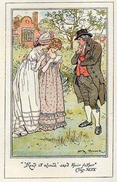 C E Brock illustration for Jane Austen's Pride and Prejudice  #FavoriteAustenMoment #DearMrKnightley