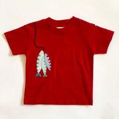 Red Fish Applique T-Shirt