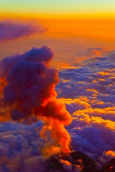 above the clouds....