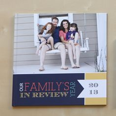 Create a personalized year in review photo book to highlight your favorite memories and share with family and friends