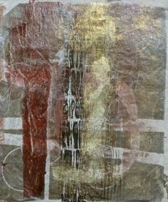 Tissue paper print from large gelli plate