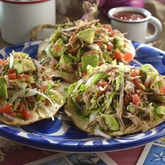 Get Shredded Beef Tostadas (Salpicon) Recipe from Food Network Diner Recipes, Meat Recipes, Mexican Food Recipes, Cooking Recipes, Healthy Recipes, Ethnic Recipes, Mexican Entrees, Recipies, Authentic Mexican Recipes