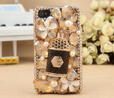 Luxury Crystal Bowknot Pendant Design Hard Case for iPhone