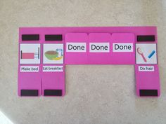 Two approaches for dealing with the morning routine with kids: (1) connect before you direct and (2) process chart
