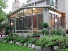 sunroom ideas - love the plants on the outside