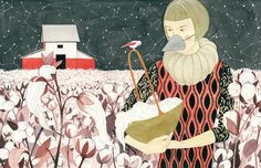 SUPERSONIC ART: Luisa Rivera, Illustrations. The air of mystery...
