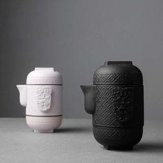 Zen Ceremony Vintage Japanese Style Portable Travel Quick Cup Kung Fu Tea Set 1 Teapot 2Teacups Ceramic Coarse Pottery Tea Pot