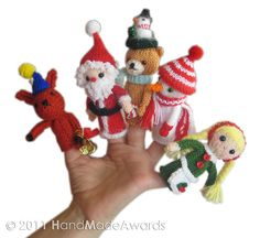 Ravelry: Christmas Finger Puppets pattern by Loly Fuertes