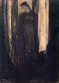 """Lénore"", by Odilon Redon"