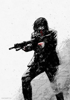 John Wick on Inspirationde Illustration, Drawings, Cool Pictures, Dark Drawings, Painting, Poster Art, Cool Art, Pictures, Movie Art