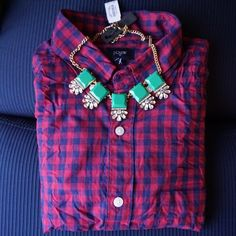 J.Crew Embellished With Squares Statement Necklace NWT/ No Trades/ No PayPal/ Size OS J. Crew Jewelry Necklaces