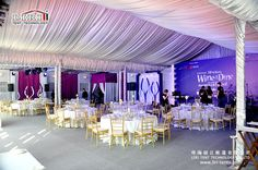 Tents ceiling decorative to Hong Kong Wine and Dine Festival
