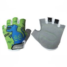 Handcrew Kids Racing Cycling Glove Childens Half Finger Gloves for Bike Unisex Outdoor Glove for Boys and Girls (Crocodile, M-Medium) ** Continue to the product at the image link.