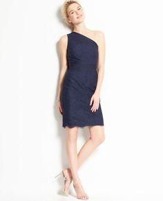 Lace One Shoulder Dress | Ann Taylor
