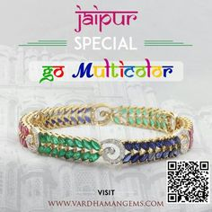"Discover your Color style. Vardhaman Gems launches new jewellery collection ""Jaipur Special"" Shop here www.vardhamangems.com"