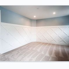 A fun wall treatment really makes this room! #brightwhitewednesday
