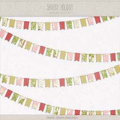 Digital Design Essentials - Shabby Holiday Banner (Add-on to the full kit) - Gina Cabrera