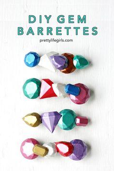 DIY Gem Barrettes How to Make Polymer Clay Hair Barrettes with the Silhouette Curio Gem Hair, Silhouette Curio, Diy Projects For Kids, Clay Design, Hair Barrettes, Hair Bows, Brass Pendant, Diy Fashion, Fashion Ideas