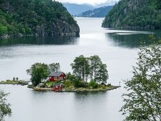 My future house; on a small island in the Lovrafjorden, along route 13 between Erfjord and Sand.