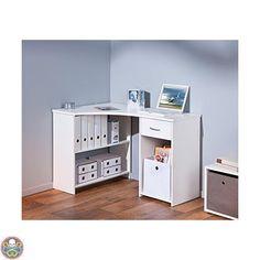 LINKS BIANCO - OFFICE 11 SCRIVANIA ANGOLARE LEGNO BIANCA 118 X 79 X 75 CM NUOVO   Casa, arredamento e bricolage, Arredamento, Scrivanie e mobili porta PC   eBay!