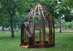 """""""pianista observatorium"""" by michael frassinelli. he gave an excellent artist lecture at my university. recycles parts from old pianos into art."""