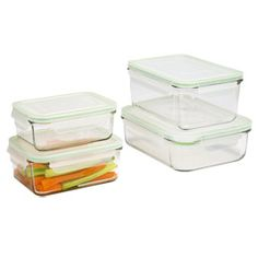 GlassLock plastic-free glass refrigerator/freezer storage containers. Check these out the next time I'm at the Container Store.  How are they packaged? How are they shipped if ordered online via Amazon?