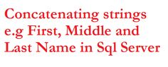 Multiple ways to concatenate first,middle and last name in Sql Server | Joining strings together in Sql Server  http://www.webcodeexpert.com/2015/03/how-to-join-firstmiddle-and-last-name.html