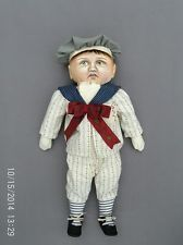 painted cloth doll | eBay www.ebay.com168 × 225Search by image Folk Art Antique Inspired Oil Painted Cloth Doll, Pouting Boy, OOAK