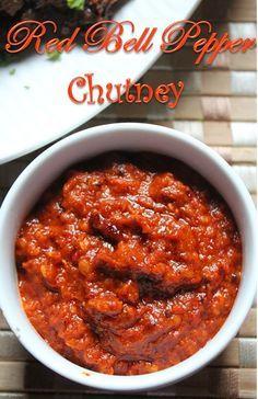 Red Bell Pepper Chutney Recipe / Red Capsicum Chutney Recipe