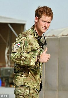 Prince Harry photographed in Afghanistan