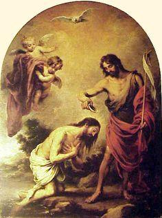 Murillo, El bautismo de Cristo (Nuevo Testamento)