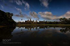 Popular on 500px : Angkor Wat Supermoon by MathewBrowne