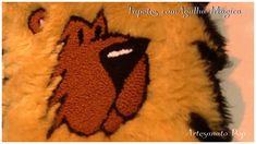 Artesanato :Tapete Rei Leão c/Agulha Magica -Passo a Passo -Fácil