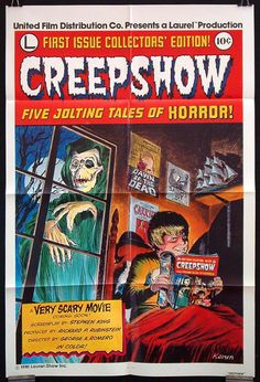 Creepshow movie comic book poster t-shirt retro horror movie Stephen King Retro Horror, Vintage Horror, Horror Comics, Horror Art, Ec Comics, Adrienne Barbeau, George Romero, Kunst Poster, Horror Movie Posters