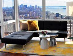 Gentil Цветовое единство в оформлении гостиной, завершенное правильно подобранным  ковром