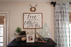 """""""Love grows best in little houses just like this."""" Happy Monday!  #woodsigns #handmadesigns #farmhouse"""
