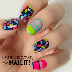 Kiss Products Freehand Mosaic Nail Art for Nail It! Magazine