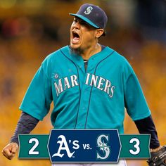 King Felix dominates over 8 innings, Robbie drives in go-ahead run as #Mariners defeat A's, 3-2. 7/11/14