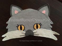 Crochet Cat gatto tappeto tappeto uncinetto coperta di