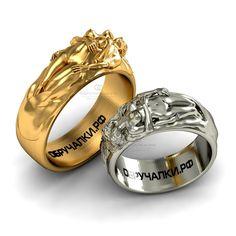 $855 за оба 60000 руб Необычные обручальные кольца из белого и желтого золота изящная реплика Cartier