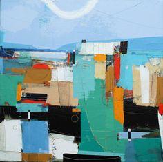 "Passage by Andrew Bird   Mixed media on board   16"" x 16"" #andrewbird #tannerandlawson #cornwall #abstractart"