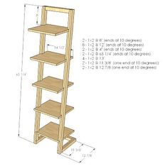 DIY z tower shelves -- click through to see a finished shelf.