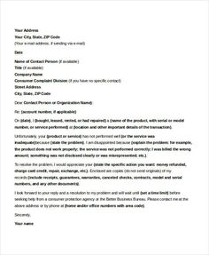 10 business complaint letter templates free sample example formal complaints letter cheaphphosting Choice Image