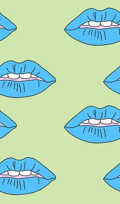 illustration | blue lips by Tyler Spangler