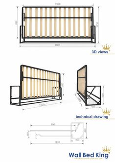 Wall Bed mechanisms from Wall Bed King murphy beds, the perfect hidden bed systems for maximising space for a modern clutter free environment. Folding Furniture, Recycled Furniture, Modular Furniture, Upholstered Furniture, Murphy Bunk Beds, Build A Murphy Bed, Small Apartment Furniture, Space Saving Furniture, Hidden Wall Bed