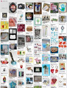 Plusieurs dizaines de liens vers des idées de bricolages et de cadeaux pour la fête des pères.