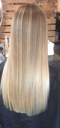22 Blonde Balayage Hair Designs to Upgrade Your Look - The Right Hair Styles Wig Hairstyles, Straight Hairstyles, Hairstyle Images, Long Haircuts, Wedding Hairstyles, Blonde Highlights, Ash Blonde, Blonde Ombre, Blonde Straight Hair